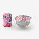 【在釜】ガラス急須&茶缶セット