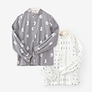 【着衣】高島縮スタンドカラーシャツ
