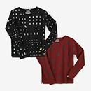 【ルコック】【net限定】ハニカムメッシュ 型ぬき長袖Tシャツ