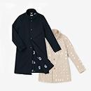 【傾衣】グログランストレッチ スタンドカラー コート