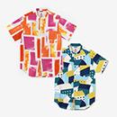 【le coq sportif】高島縮 20/20 スタンドカラー半袖シャツ