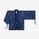 【傾衣】インディゴ 繻子織 宮中袖 短衣 単