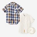 スタンドカラー 半袖シャツ