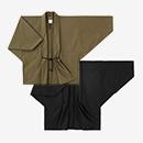 【着衣】高密度 斜子織 もじり袖 短衣 単