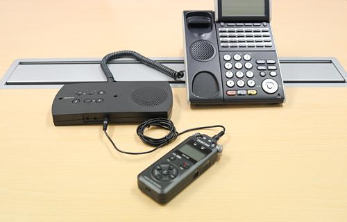 R-Talk 950とICレコーダーを接続