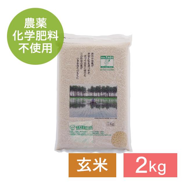 無農薬 あきたこまち 玄米 2kg