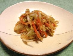 キムチ風白菜の即席漬け