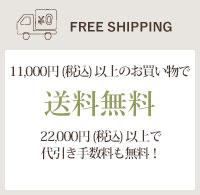 11,000円(税込)以上で送料無料!