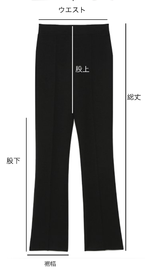 アイテム別サイズ見本-pants