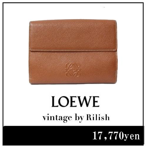 LOEWE ロエベ ヴィンテージ ロゴ二つ折り財布