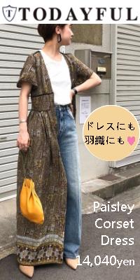 TODAYFUL(トゥデイフル)先行予約 Paisley Corset Dress