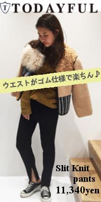 TODAYFUL(トゥデイフル) Slit Knit