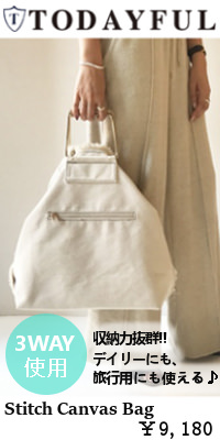 TODAYFUL(トゥデイフル)先行予約 Stitch Canvas Bag