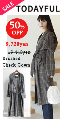 TODAYFUL(トゥデイフル) Brushed Check Gown