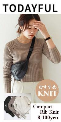 TODAYFUL(トゥデイフル) Compact Rib Knit