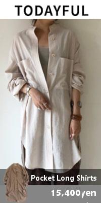 TODAYFUL (トゥデイフル) Pocket Long Shirts