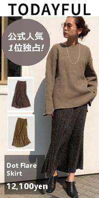 TODAYFUL (トゥデイフル) Dot Flare Skirt