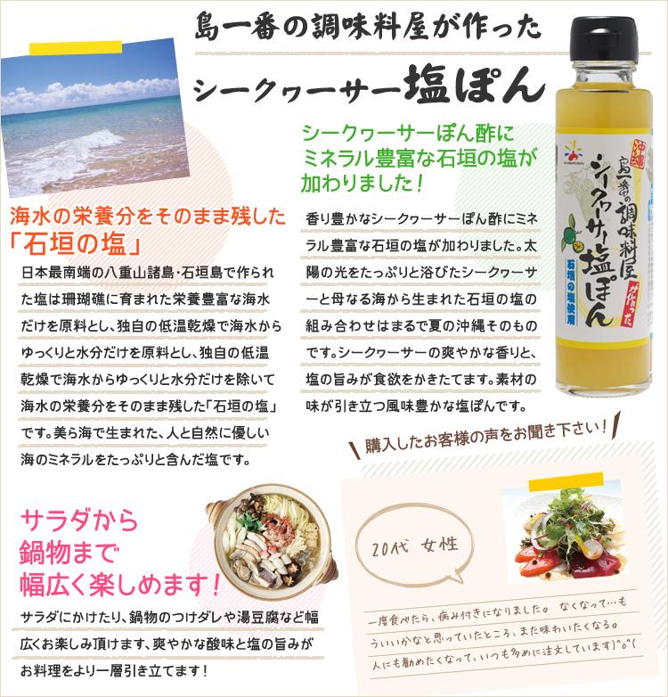 石垣島のミネラル豊富な塩を使ったオリジナル塩ドレッシング