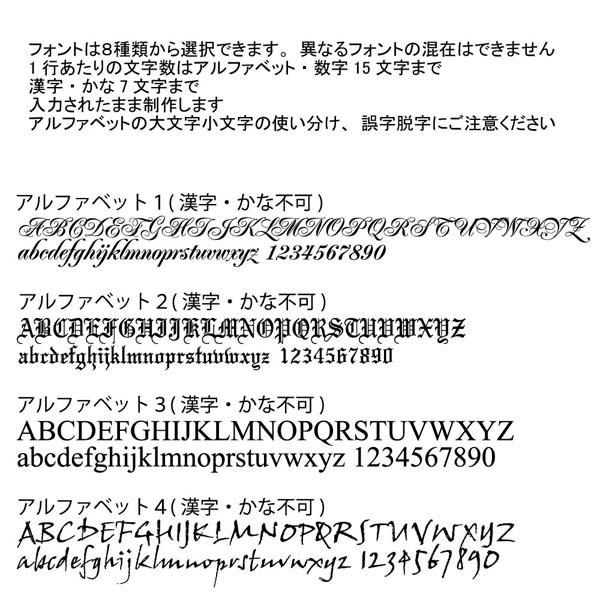 フォント アルファベット