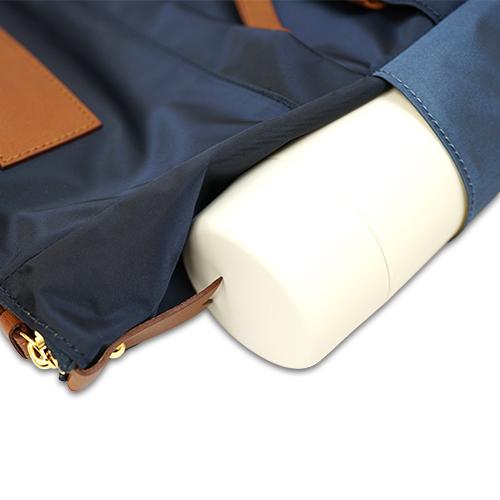 エアリー2wayリュックのサイドポケットの説明画像