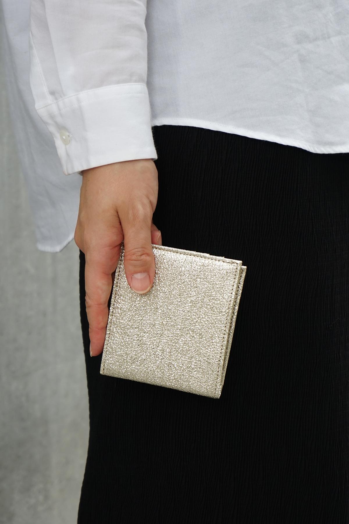 ポケットウォレット ミニ シャンパンゴールドのモデル画像