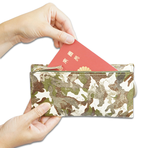 薄い長財布<アーミー>のフリーポケットの説明画像