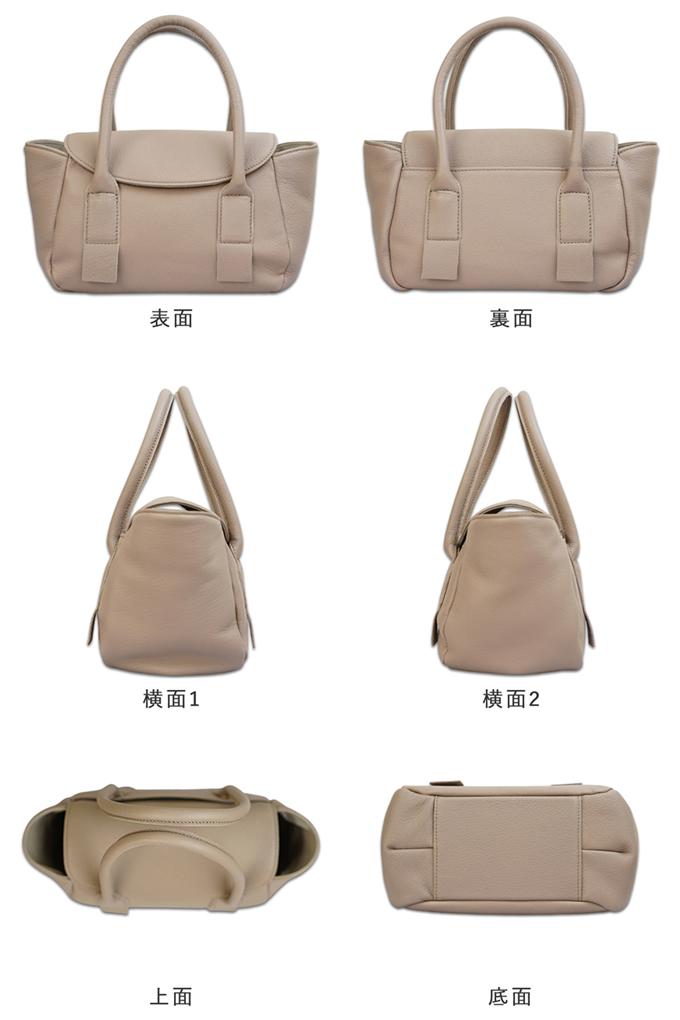 2way ハンドショルダーミニバッグの表面、横面、側面、上面の画像