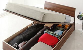 ガス圧跳ね上げ式大容量収納ベッド1