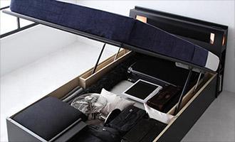 ガス圧跳ね上げ式大容量収納ベッド2