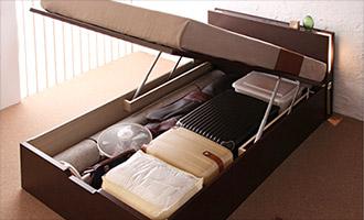 ガス圧跳ね上げ式大容量収納ベッド3