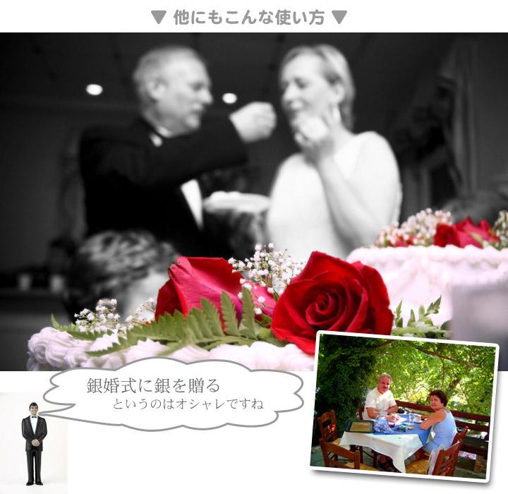 銀婚式に銀細工を贈るおしゃれ