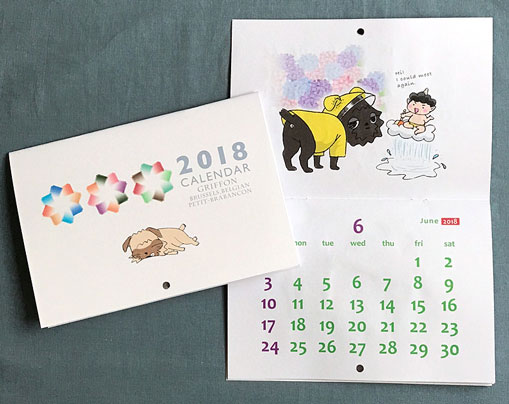 2018年版春夏秋冬GF壁掛けカレンダー