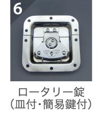ロータリー錠(皿付・簡易鍵付)