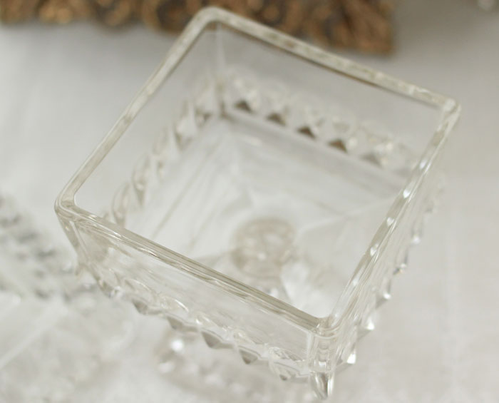 ビンテージコンポートJeannette glassウェディングボウル