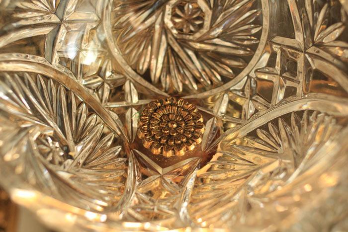 デコラティブガラスコンポートゴールド