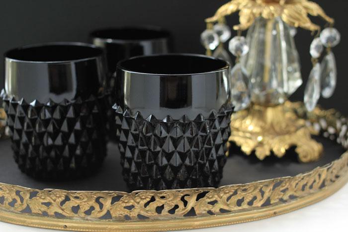 インディアナグラス カップ ブラック