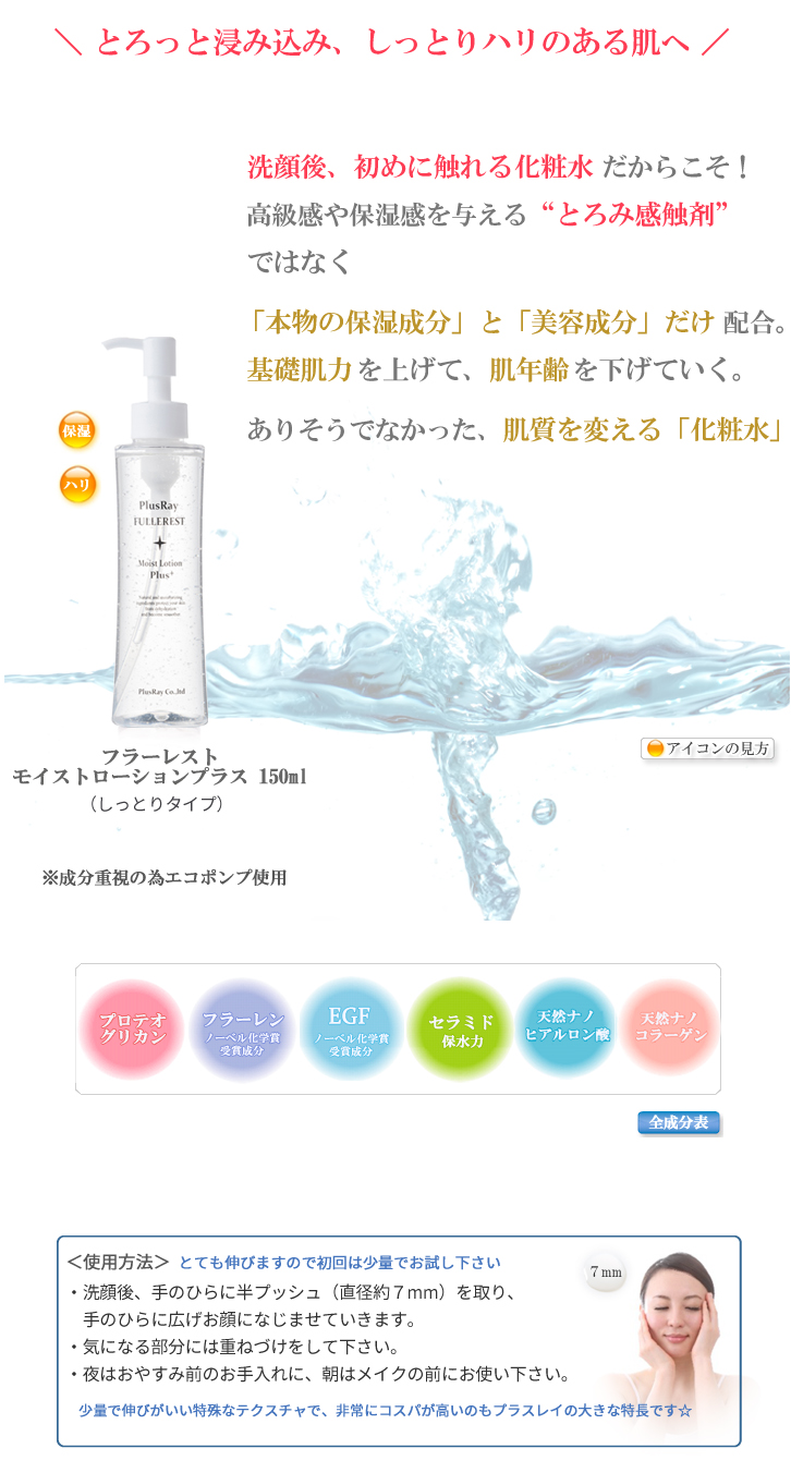 プラスレイ化粧水