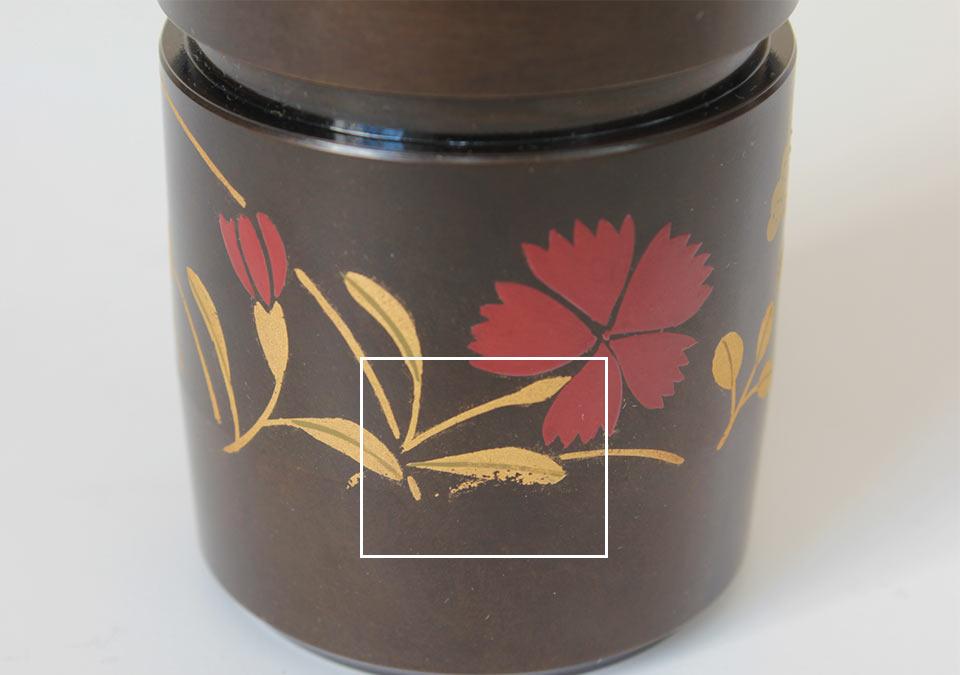 手元供養ミニ骨壷なごみの蒔絵デザインアップ