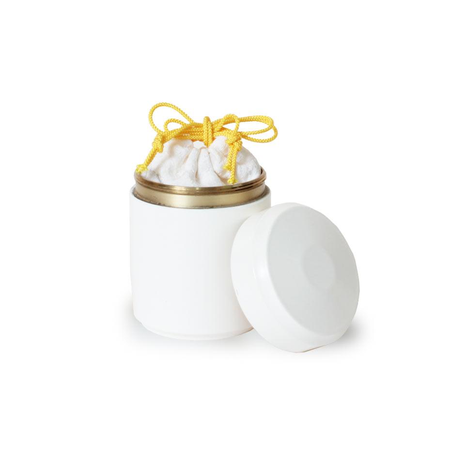 ミニ骨壷なごみの白
