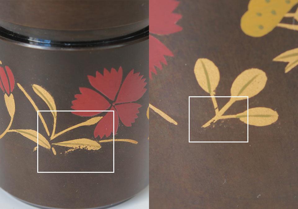 ミニ骨壷なごみ蒔絵の手作業の説明