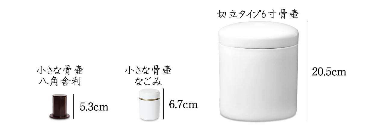 骨壷大きさ比較