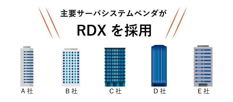 主要サーバベンダーがRDXを採用