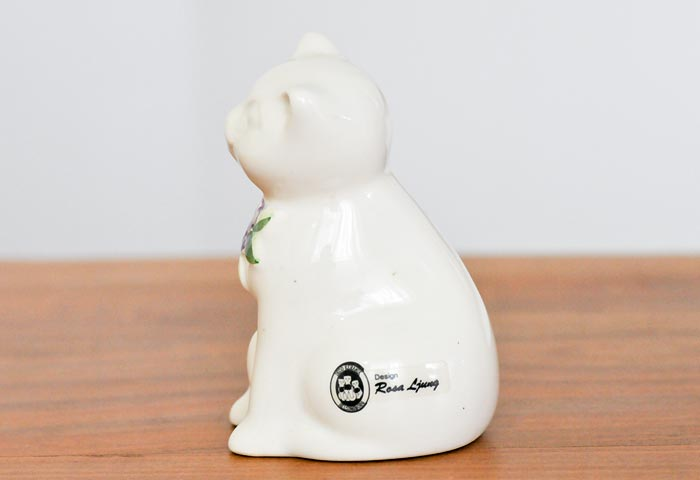 DECO(デコ)/陶器の猫の置物/スウェーデン 02