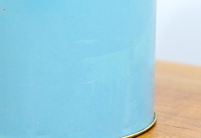 北欧で使われていた、ブリキ缶(水色)03