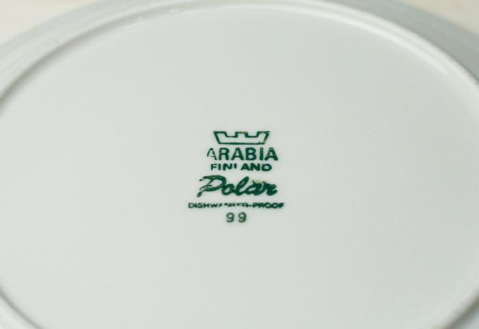 ARABIA(アラビア)/Polarー陶器のプレート/フィンランド/ビンテージ