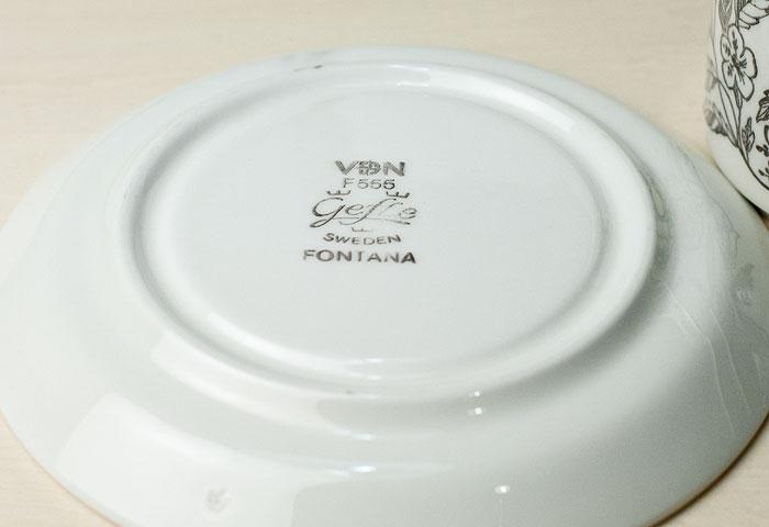 GEFLE(ゲフル)/FONTANA(フォンタナ) - カップ&ソーサー/スウェーデン 01