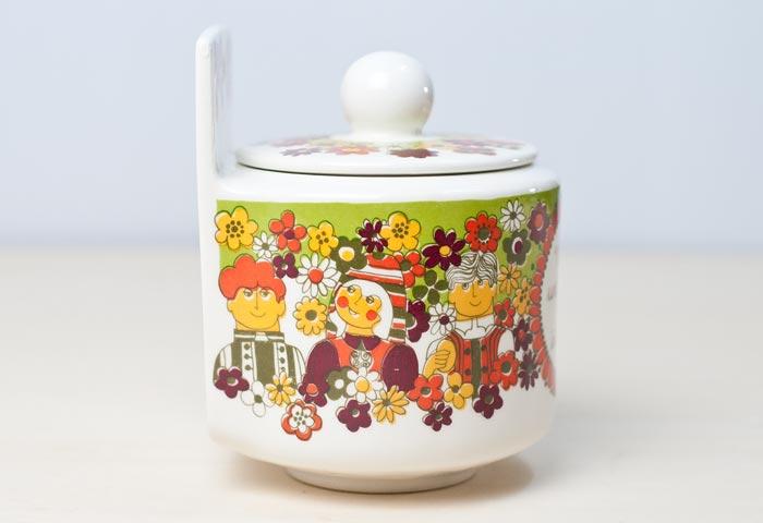 FIGGJO(フィッギオ)/FOLKLORE - 陶器の壁掛けキャニスター(塩入れ)/ノルウェー/ビンテージ/K0044 02