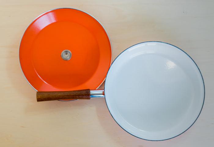 ノルウェー、CATHERINEHOLM(キャサリンホルム)社、ビンテージのLOTUS(ロータス)シリーズの片手鍋(オレンジ)