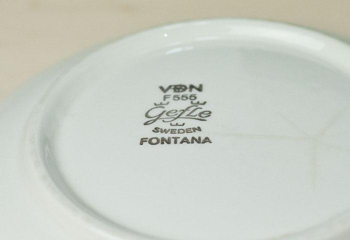 GEFLE(ゲフル)/FONTANA(フォンタナ)ー深皿/スウェーデン/ビンテージ