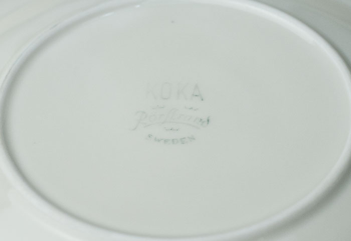 Rorstrand(ロールストランド)/KOKAー陶器のプレート/スウェーデン/ビンテージ